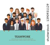 group of businessman and... | Shutterstock .eps vector #1390931129