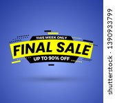 this week only final sale... | Shutterstock .eps vector #1390933799