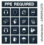 required personal protective... | Shutterstock .eps vector #1390951370