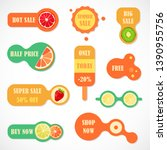 vector stickers  price tag ... | Shutterstock .eps vector #1390955756