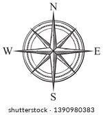 compass vector icon  retro... | Shutterstock .eps vector #1390980383