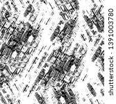 black dusty scratchy texture.... | Shutterstock .eps vector #1391003780