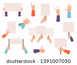 concept of hands hold different ... | Shutterstock .eps vector #1391007050