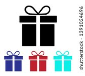 gift icon vector  present sign | Shutterstock .eps vector #1391024696