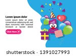 1st year celebration design... | Shutterstock .eps vector #1391027993