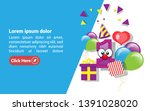 1st year celebration design... | Shutterstock .eps vector #1391028020