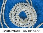 top view of white pearl... | Shutterstock . vector #1391044370