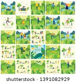 vector nature eco backgrounds... | Shutterstock .eps vector #1391082929
