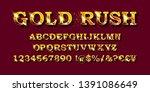 vector handmade font. vintage...   Shutterstock .eps vector #1391086649