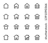 house icon set vector... | Shutterstock .eps vector #1391090366