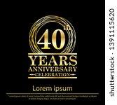 40th years anniversary...   Shutterstock .eps vector #1391115620