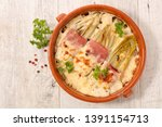baked chicory with ham  cheese... | Shutterstock . vector #1391154713