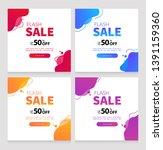 dynamic modern fluid for sale... | Shutterstock .eps vector #1391159360
