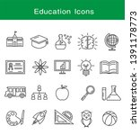 education icons set  vector... | Shutterstock .eps vector #1391178773