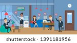 office people with gadgets lost ... | Shutterstock .eps vector #1391181956