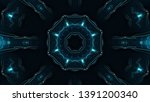 abstract kaleidoscope... | Shutterstock . vector #1391200340