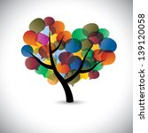 colorful tree chat icons  ... | Shutterstock .eps vector #139120058