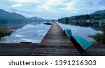 early dawn at the lake dock | Shutterstock . vector #1391216303