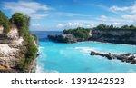view on the blue lagune....   Shutterstock . vector #1391242523