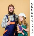 family remodeling house. home... | Shutterstock . vector #1391255330