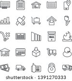 thin line icon set   baggage... | Shutterstock .eps vector #1391270333