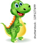 cute dinosaur cartoon | Shutterstock .eps vector #139127699