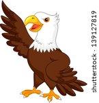 eagle cartoon waving | Shutterstock .eps vector #139127819