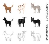vector design of breeding and... | Shutterstock .eps vector #1391300399