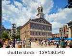boston  ma   june 9  a crowd of ... | Shutterstock . vector #139130540