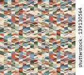 vector retro grunge geometric... | Shutterstock .eps vector #139130564