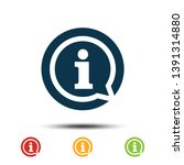 set information icon vector... | Shutterstock .eps vector #1391314880