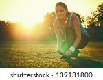 do sport in the sunset   young... | Shutterstock . vector #139131800