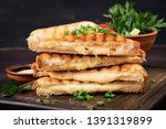 american hot cheese sandwich.... | Shutterstock . vector #1391319899