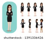 set of working people on white... | Shutterstock .eps vector #1391336426