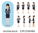 set of working people on white... | Shutterstock .eps vector #1391336486