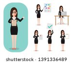 set of working people on white... | Shutterstock .eps vector #1391336489