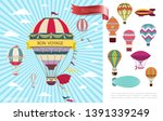 flat air voyage colorful concept | Shutterstock .eps vector #1391339249