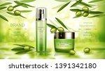 olive cosmetics vector... | Shutterstock .eps vector #1391342180