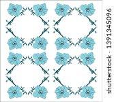 floral design. graphic sketch... | Shutterstock .eps vector #1391345096