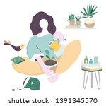 corona virus covid 19 campaign... | Shutterstock .eps vector #1391345570
