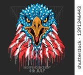 eagle head america usa flag... | Shutterstock .eps vector #1391346443