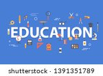 education banner concept with... | Shutterstock .eps vector #1391351789