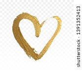 gold glitter heart isolated on... | Shutterstock .eps vector #1391352413