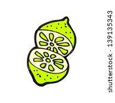 cartoon cut lime | Shutterstock . vector #139135343