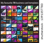 set of 70 colorful business... | Shutterstock .eps vector #1391357783