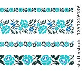 ukrainian old embroidery and... | Shutterstock .eps vector #1391359439