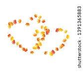maple leaves vector background  ... | Shutterstock .eps vector #1391365883