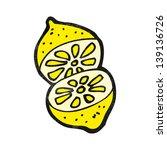 cartoon cut lemon | Shutterstock . vector #139136726