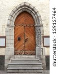 Gothic Wooden Door With...