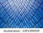 double exposure of structural... | Shutterstock . vector #1391390939
